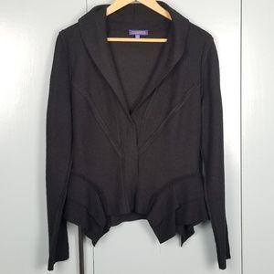 Vivienne Tam black fitted cardigan size 10 -C8